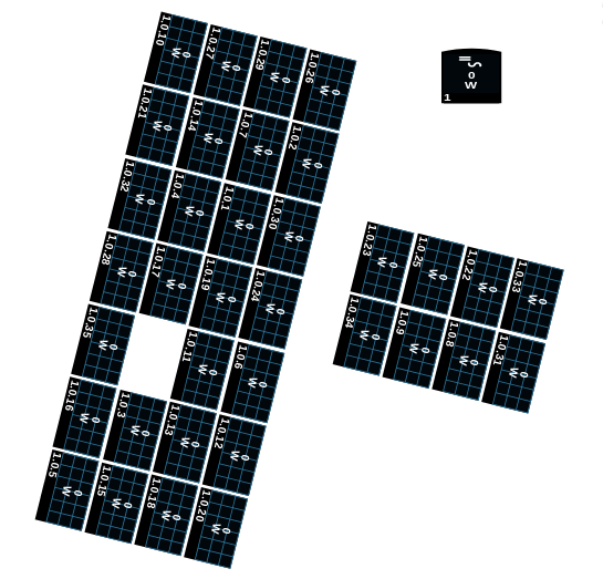 My 11.375kWh Solar Panel Layout